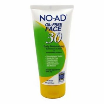 No-Ad Oil-Free Face Spf 30 Daily Moisturizing Sunscreen Lotion - 6 Oz