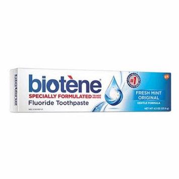 Biotene Fluoride Toothpaste, Fresh Mint - 4.3 Oz , 2 Pack