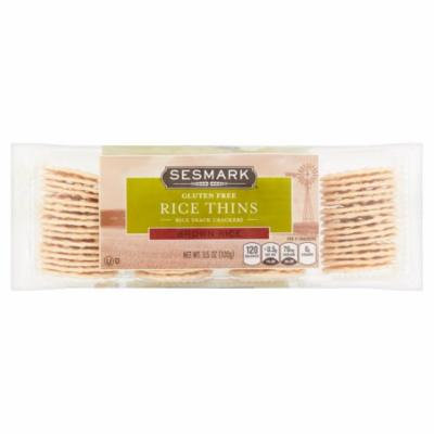 Sesmark Brown Rice Thins, 3.5 oz, 12 pack
