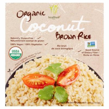 Healthee Organic Coconut Brown Rice, 7.6 oz, 12 pack