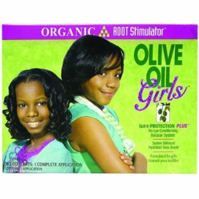 Organic Root Stimulator Girls Olive Oil No-Lye Relaxer Kit - 1 Ea