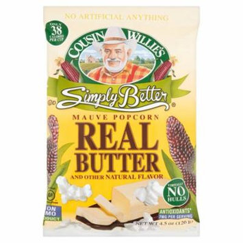Cousin Willie's Simply Better Mauve Popcorn, 4.5 oz, 9 pack