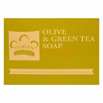 Nubian Heritage Bar Soap Olive and Green Tea with Avocado, 5 Oz