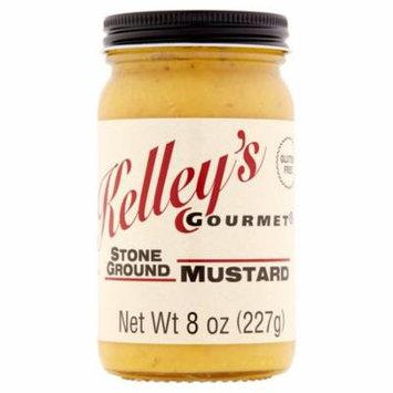 Kelley's Gourmet Stone Ground Mustard, 8 oz, 6 pack