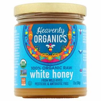 Heavenly Organics 100% Organic Raw White Honey, 12 oz, 6 pack