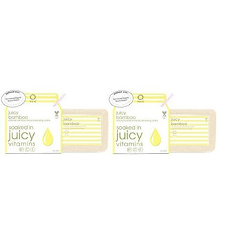 Kaia Naturals Juicy Bamboo Natural Facial Cleansing Cloths With Jojoba & Sunflower Oil, Organic Honey And Bamboo, 30 Cloths, (Pack of 2)