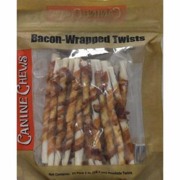 Canine Chews Bacon-Wrapped Twists Dog Treats, 25 Count