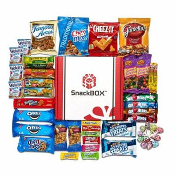 Back to School College Care Package Candies Chips and Cookies Assortment Variety Pack Bundle Bulk Sampler (45 Count) SnackBOX