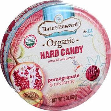Torie & Howard - Organic Hard Candy Pomegranate & Nectarine - 2 oz(pack of 4)