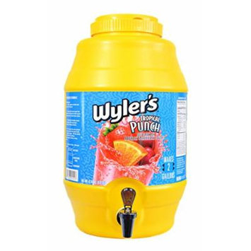 Wylers Lemonade and Punch Mix includes 2.5 Gallon Capacity Soft Drink Dispenser with Spigot (Tropical Punch)