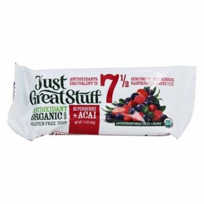 Betty Lou's - Just Great Stuff Bar Organic Superberry Acai - 1.5 oz (pack of 12)