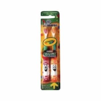 Gum Crayola Pip-Squeak Soft Toothbrush, Twin Pack - 2 Ea, 6 Pack