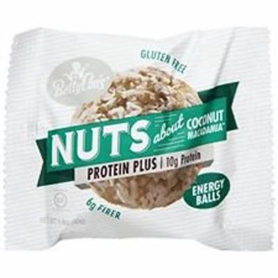 Betty Lou's - Nut Butter Balls with Plant Phytosterols Coconut Macadamia - 1.4 oz(pack of 4)