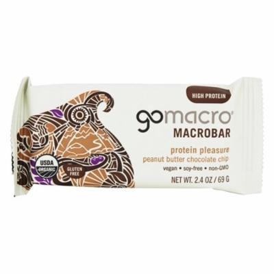 GoMacro - MacroBar Protein Pleasure Peanut Butter Chocolate Chip - 2.5 oz(pack of 6)