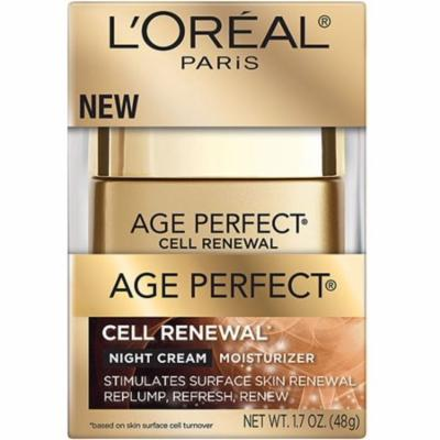 L'Oreal Paris Age Perfect Cell Renewal Night Cream Moisturizer 1.7 oz (Pack of 3)