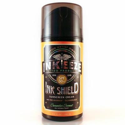 Ink-Eeze Ink Shield SPF 30+ Cucumber Coconut Sunscreen 3.3 oz.