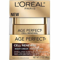 L'Oreal Paris Age Perfect Cell Renewal Night Cream Moisturizer 1.7 oz (Pack of 2)