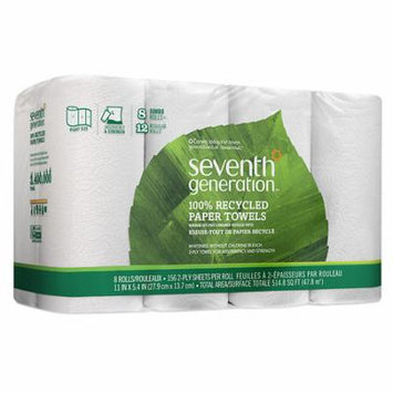 Seventh Generation Recycled Paper Towels Jumbo 8.0 ea (Pack of 6)