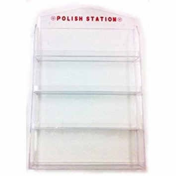 Beauticom High Quality 4 Tier Acrylic Nail Polish Wall Rack (Holds 32 Bottles)