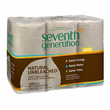 Seventh Generation Natural Unbleached Paper Towels Jumbo 6.0 ea (Pack of 6)