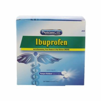 First Aid Only J432 Ibuprofen, 250 Doses of 2 Tablets