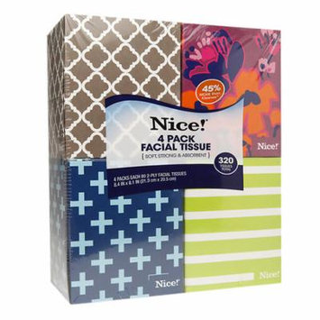 Nice! Facial Tissue 320.0 sh (Pack of 4)