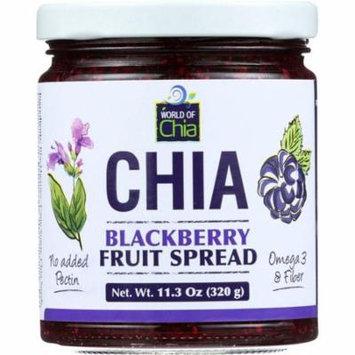 World Of Chia Spread Chia Blackberry, 11.3 Oz (Pack Of 6)