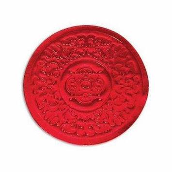 1 Unit Medallion Foil Embossed Red2