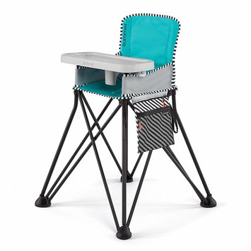 Summer Pop 'n Dine SE Highchair, Sweet Life Edition, Aqua Sugar Color - Portable High Chair for Indoor/Outdoor Dining – Space Saver High Chair with Fast, Easy, Compact Fold, for 6 Months – 45 Pounds