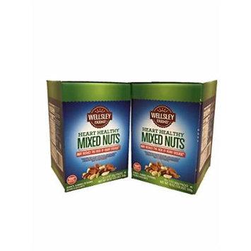 2 X Wellsley Farms Heart Healthy Mixed Nuts 12 - 1.5 Oz Packs