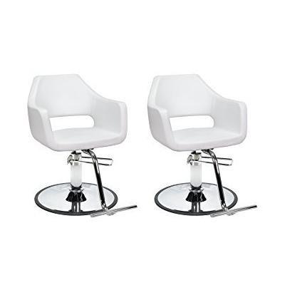 DUO Salon Styling Chairs 2 RICHARDSON WHT for Beauty Salon Furniture
