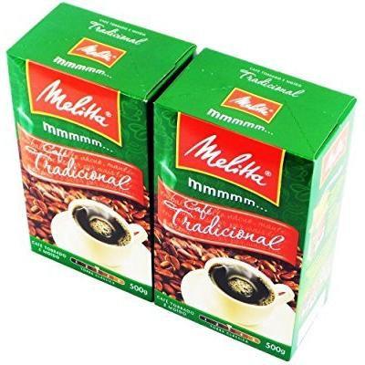 Melitta Traditional Roasted and Ground Coffee 17.6oz , Café Tradicional Torrado e Moído 500g (Pack of 02)
