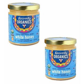 Heavenly Organics 100% USDA Certified Raw White Honey Certified Kosher, 12oz, 2 pack