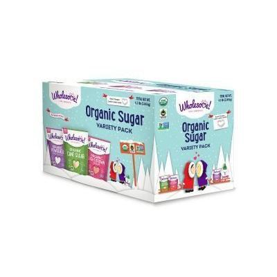 Wholesome Organic Sugar Variety Pack, 4lbs, Raw Turbinado, Light Brown and Powdered
