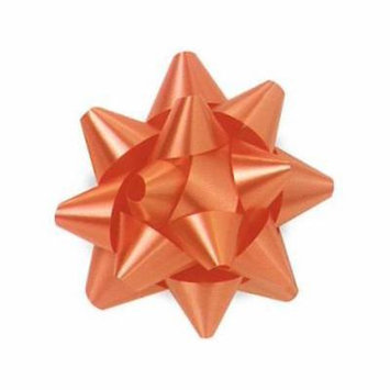 2 Unit Tropical Orange Medium Star Bows 3-1/2