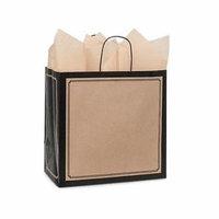 1 Unit Black & Kraft Duets Bags Bulk 13x7x13