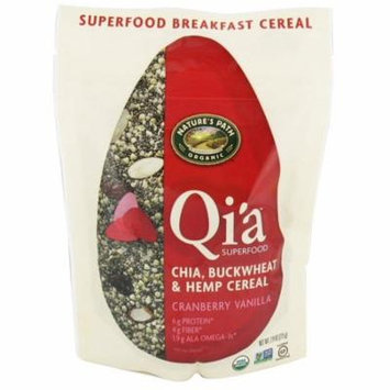 Nature's Path Organic Qi'a Gluten-Free Superfood Chia, Buckwheat & Hemp Cereal, Cranberry Vanilla, 7.9 Ounce(pack of 4)