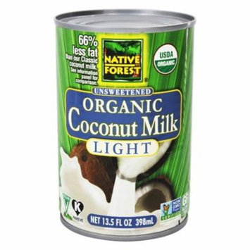 Native Forest - Coconut Milk Light Organic Unsweetened - 13.5 oz(pack of 4)