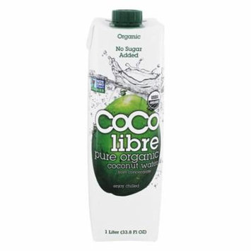Coco Libre - Pure Organic Coconut Water - 1 Liter (pack of 4)