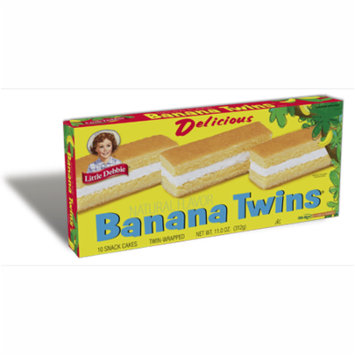 Little Debbie Creme Filled Banana Twin Soft Cakes, 11 oz