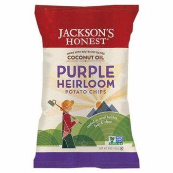 Jackson's Honest Purple Heirloom Potato Chips 5 oz Bags - Pack of 6