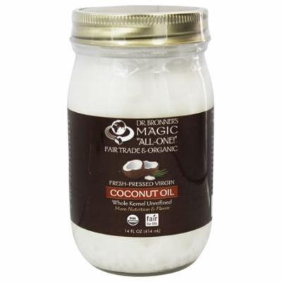 Dr. Bronners - Magic Fresh-pressed Virgin Coconut Oil Whole Kernel Unrefined - 14 Oz(pack of 6)