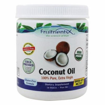 FruitrientsX - Coconut Oil 100% Pure Extra Virgin - 16 oz(pack of 1)