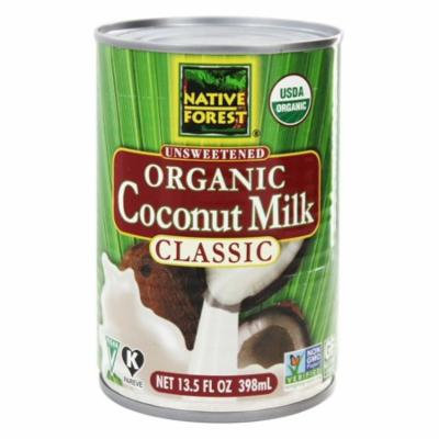 Native Forest - Coconut Milk Classic Organic Unsweetened - 13.5 oz(pack of 6)