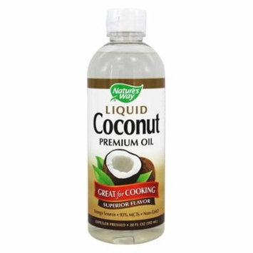 Nature's Way Coconut Oil, Liquid 20 Oz(pack of 4)