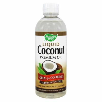 Nature's Way Coconut Oil, Liquid 20 Oz(pack of 4)