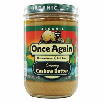 Once Again - Organic Cashew Butter - 16 oz(pack of 12)