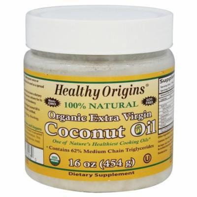 Healthy Origins - Organic Extra Virgin Coconut Oil 100% Natural - 16 oz(pack of 4)