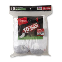 Hanes Boy's 10-Pairs Cushion Ankle Socks [Fit : Boys 4-7X]
