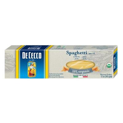 De Cecco Organic Spaghetti, 12 Ounce Boxes